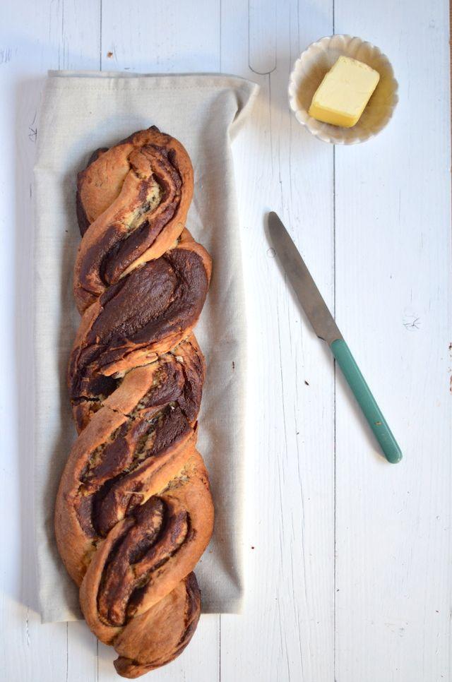 chocolade brioche; veranderingen in ingredienten aanbrengen als in; apple sauce in plaats van boter!