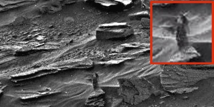 Záhadná postava ženy vyfocená na Marsu vyvolala v nadšencích záhad spoustu otázek.