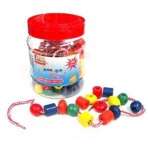 Fun Factory - Lacing Beads in a Jar