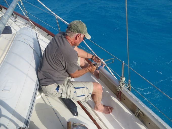 Captive Aboard at Cocos Keeling