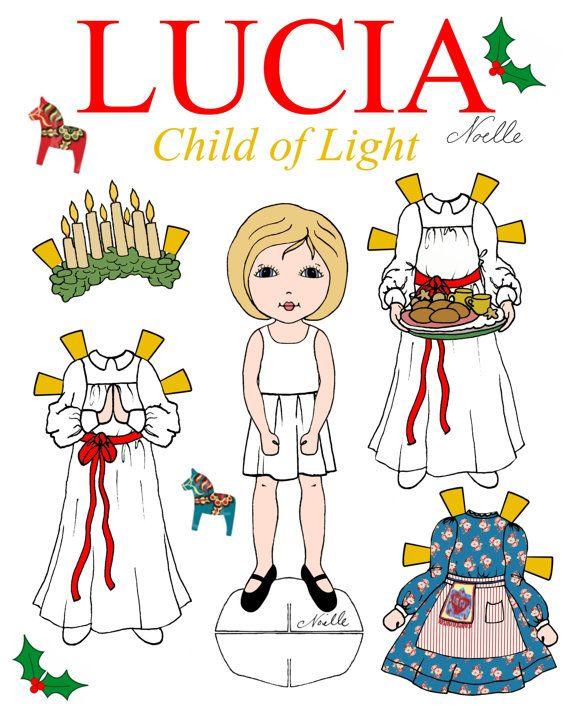 Lucia Child Of Light Paper Doll Set Santa By Christennoelle