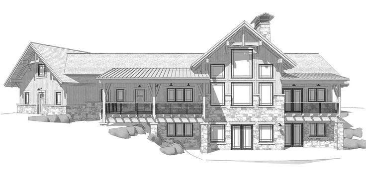 Bragg Creek Floor Plan by Canadian Timber Frames, Ltd.