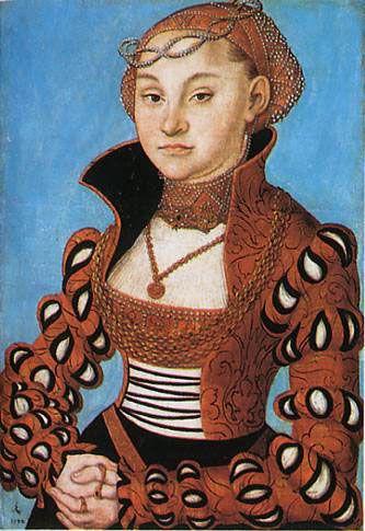 Portrait of a Saxon noblewoman - Lucas Cranach the Elder