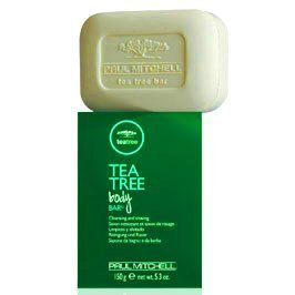 Paul Mitchell Tea Tree Body Bar Soap 5.3 oz. / 150 G by Paul Mitchell. $13.00. Exfoliating. Healing properties. CLEANSING AND SHAVING. Antibacterial. Tea Tree Body Bar Soap 5.3 oz / 150 g  CLEANSING AND SHAVING Provides a Refreshing Clean - Tea tree oil is a completely natural antibacterial agent, well known for its healing properties Exfoliating - Enriched with natural parsley flakes to help gently remove dry dead skin cells Great for Shaving - The rich creamy...