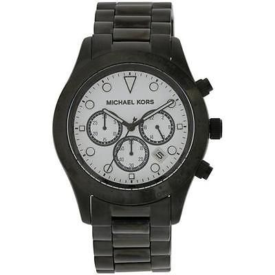Womens 64519: Mk6083 Michael Kors Layton Black Stainless Steel Chronograph Ladies Watch BUY IT NOW ONLY: $233.57