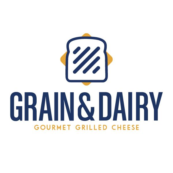 Grain and Dairy- a grilled cheese restaurant. Logo design by Julie Keller