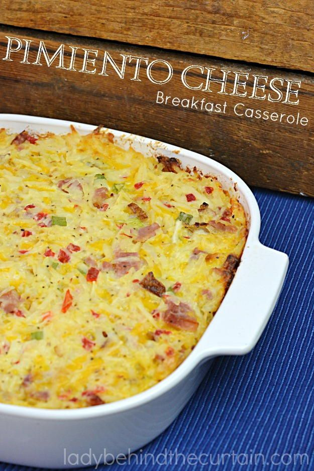 Pimento Cheese Breakfast Casserole | A great way to use up leftover Easter ham!