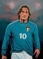 Sports Paintings -  Francesco Totti Italia  by Paul Meijering