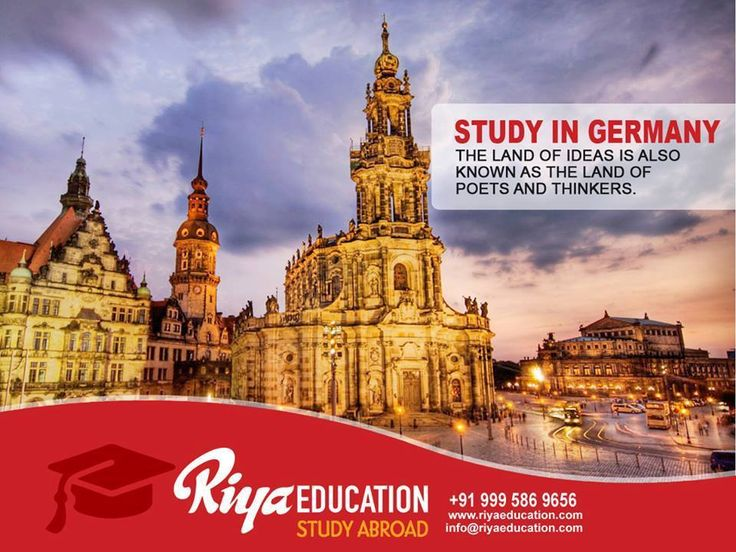 STUDY IN GERMANY!!! The LAND OF IDEAS is also Known as the LAND LAND OF POETS AND THINKERS. Visit our website for more information http://riyaeducation.com/ #germany #studyingermany