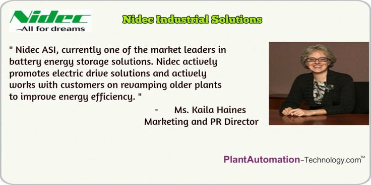 Check out Ms. Kaila Haines Marketing and PR Director, @NidecIndustrial shares best practices & Solutions for #industrial #automation customers.