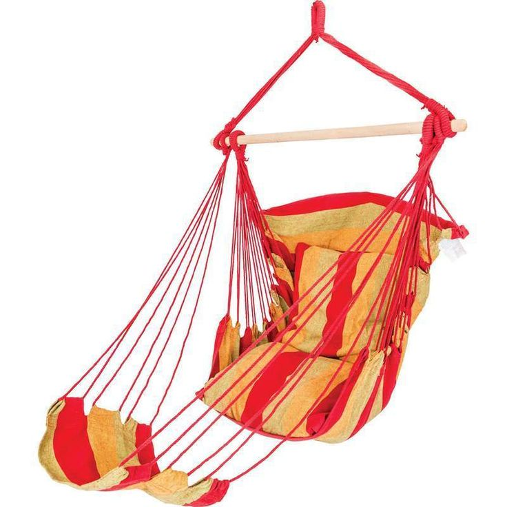 Hanging Hammock Rope Chair Multi Color Porch swing Seat with Foot Rest funclub #ClubFun