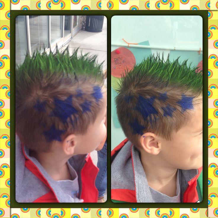 Crazy Hair Day Preschool School Hair Color Boy Hair