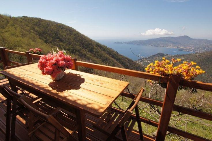 Casa dei Fiori Liguri 1 San Colombano Certenoli Toller Blick über die Berge bis hinunter...