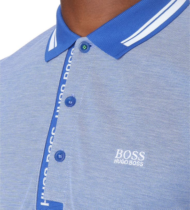 HUGO BOSS - Branded cotton-jersey polo shirt   Selfridges.com