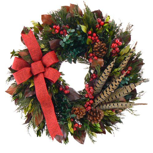 20 Christmas Wreaths - Love this bow!