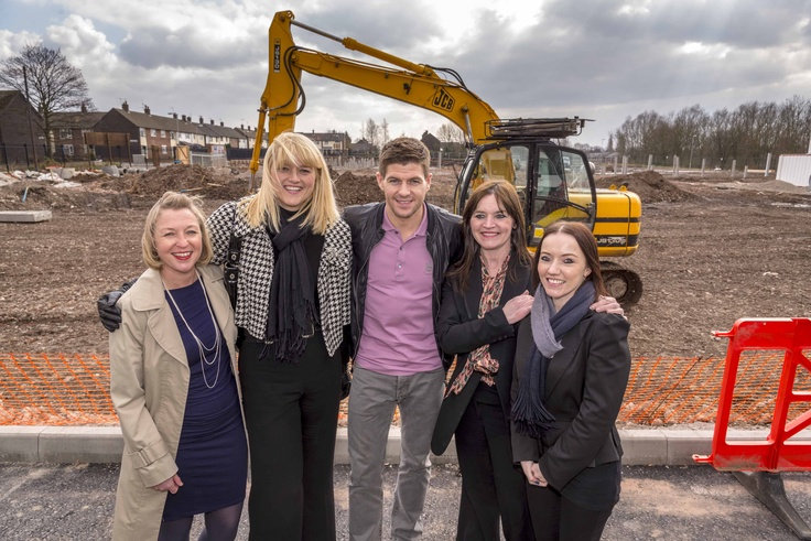 #StevenGerrard here at the Bluebell Park launch with our Chair, Helen White and our KHT Development team.