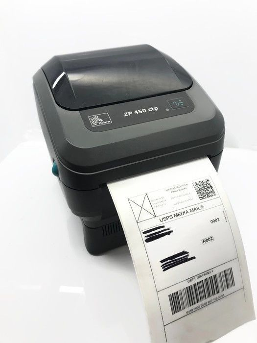 Zebra ZP450 CTP Thermal Label Tag Printer 200dpi USB USPS UPS Shipping eBay #Zebra