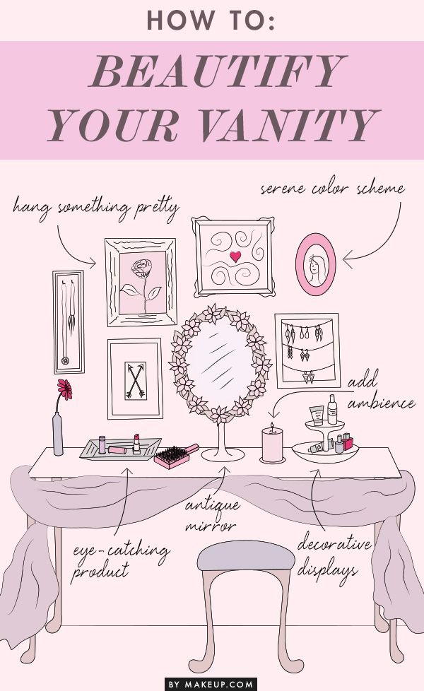 Getting pretty in the morning isn't just about the makeup your using, but how you feel using. Your vanity can play a role. Make sure your beautifying station is clean and comfortable with these tips.