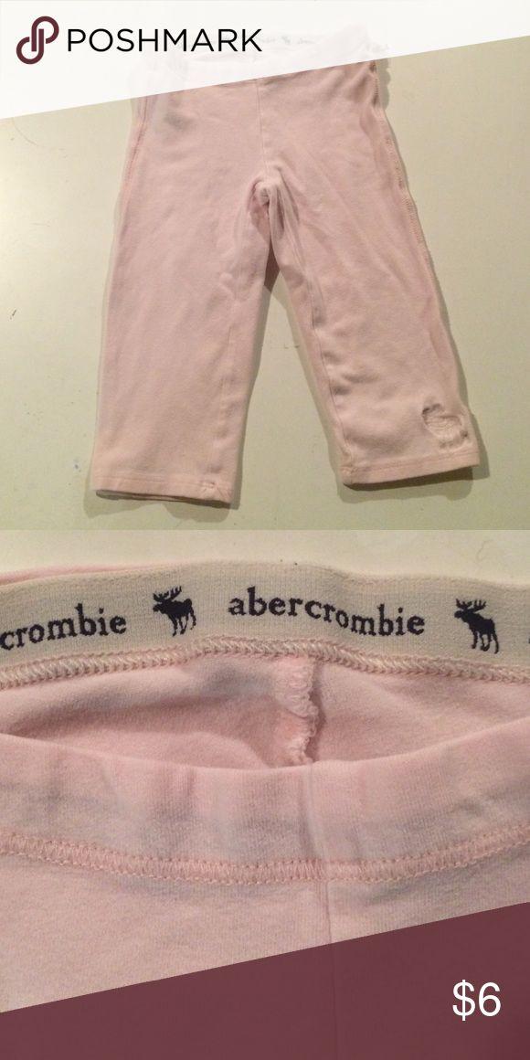 Abercrombie girls baby pink yoga pants Adorable baby pink Capri yoga pants. Perfect condition abercrombie kids Bottoms Leggings