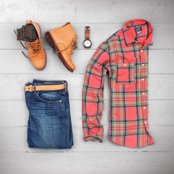 "18 Me gusta, 2 comentarios - Matt Graber (@matthewgraber) en Instagram: ""Midweek flannels. #grabergrid  Boots: @rancourtco Hamilton Essex Socks: @anonymousism_japan  Watch:…"""