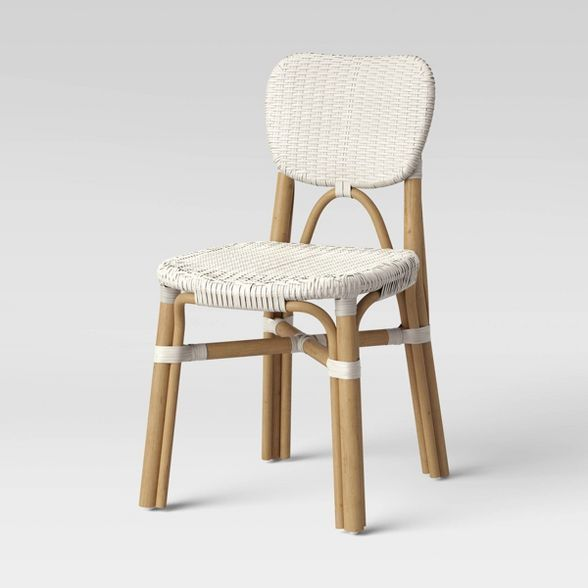 Canton Rattan And Woven Dining Chair Threshold In 2020 White Dining Chairs Dining Chairs High Back Dining Chairs