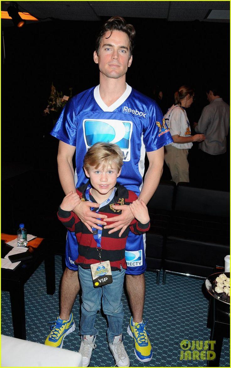 My son's gonna have swagger like Matt Bomer's son, Kit. Love White Collar.