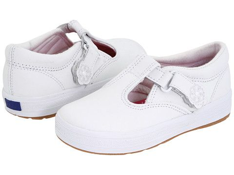 Keds Kids Daphne T-Strap 2 (Toddler/Little Kid) White Leather - Zappos.com Free Shipping BOTH Ways