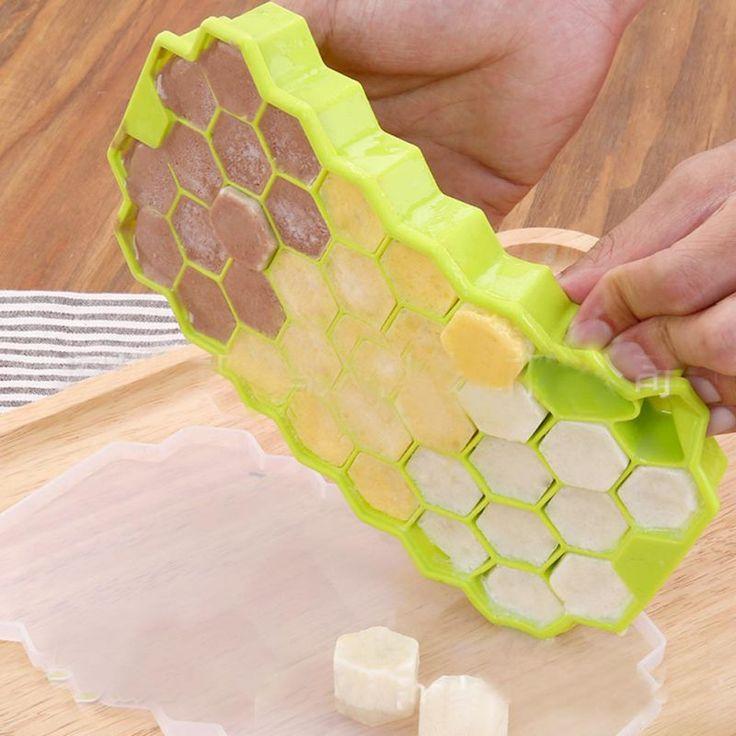 37 Ice Cubes Honeycomb Ice Cream Maker Form DIY Pops Mould Popsicle Molds Yogurt Ice Box Fridge Treats Freezer Ice Cream Tools