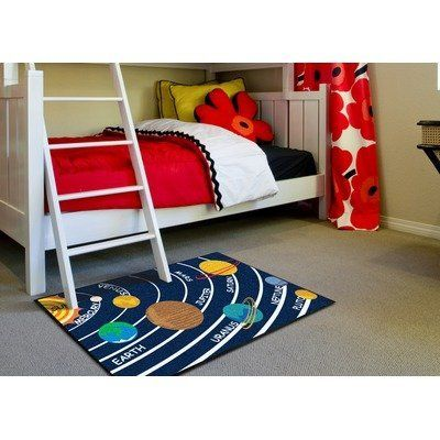 Solar System Kids Rug Size: 5' x 8' by Millenium Mats Kids. $140.69. 11703 Size: 5' x 8' Features: -Technique: Tufted.-Material: Nylon.-Origin: United States.-1'7'' x 2'6''.-2'10'' x 3'9''.-5' x 6'.-5' x 8'. Construction: -Construction: Machine made. Dimensions: -Pile height: 0.25''. Collection: -Collection: Solar System. Warranty: -Warranty length: 1 year.