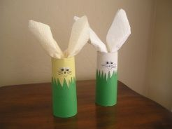 sooo letting the kids making these napkin holders for easter dinner