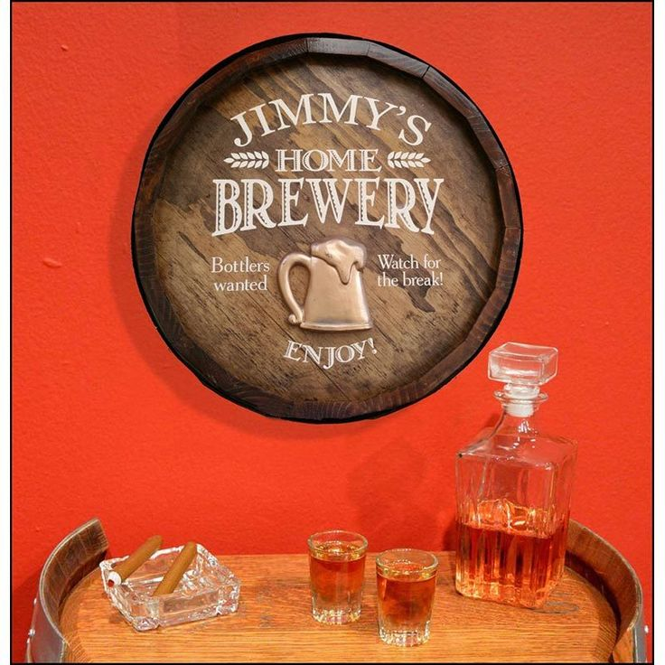 home brewery quarter barrel sign personalized. beautiful ideas. Home Design Ideas