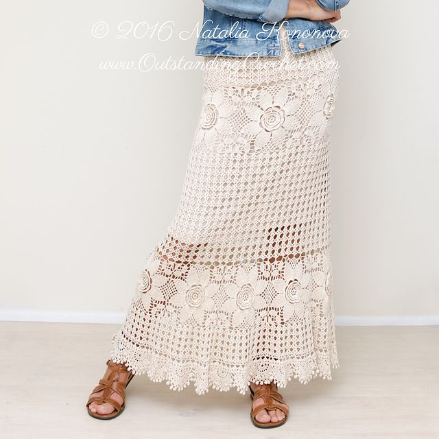 Another beauty by Natalia! Tiered Maxi Skirt crochet pattern by Natalia Kononova
