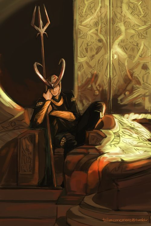 tellmeonemore: Dormire Loki sul trono.