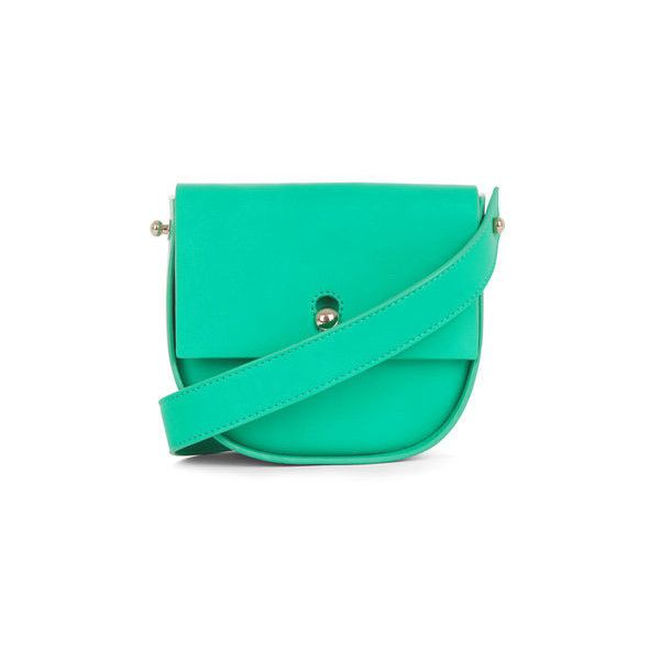 Warehouse Warehouse Keyhole Saddle Cross Body Bag ($36) ❤ liked on Polyvore featuring bags, handbags, shoulder bags, bright green, green cross body purse, crossbody handbags, crossbody shoulder bag, green crossbody purse and green shoulder bag