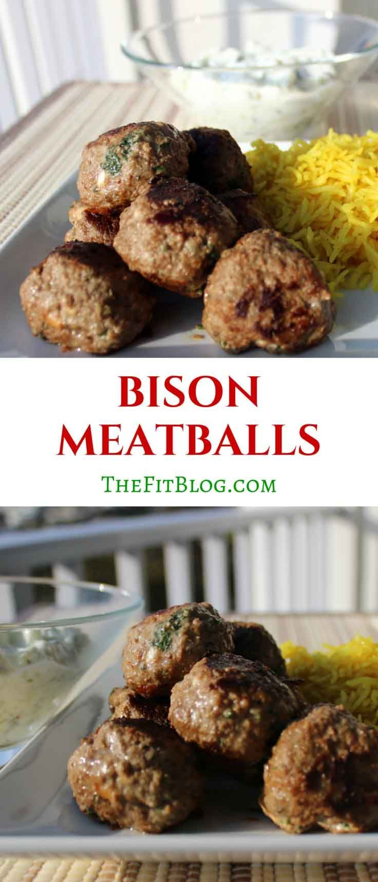 Meatballs are such a great way to prepare protein. These bison meatballs are packed with Mediterranean flavor inspired by some of our many trips to Greece.