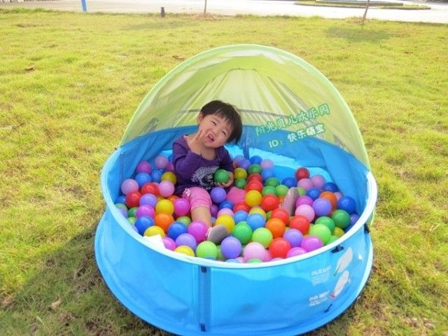39.00$  Watch here - http://alizs4.shopchina.info/go.php?t=32644292571 - Folding children's wading pool Ocean ball pool Free inflatable baby bathtub With awning tent for kids tent for children  #bestbuy