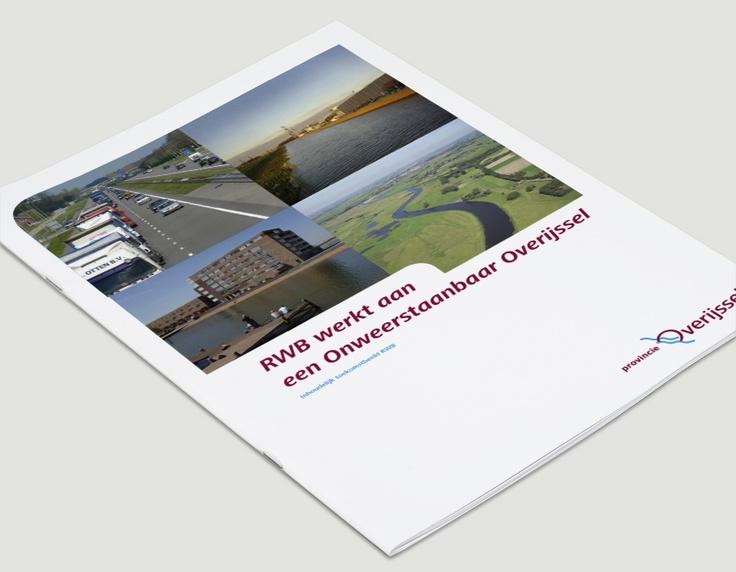 Omslag brochure, Provincie Overijssel / visuele identiteit / 2003 - Ontwerp door Cascade - visuele communicatie Amsterdam