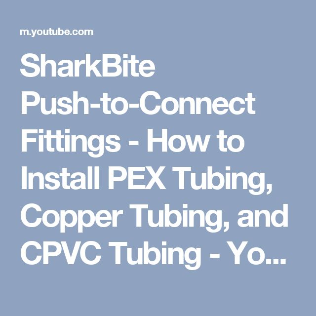 17 best ideas about pex tubing on pinterest air for How to connect pex pipe to copper