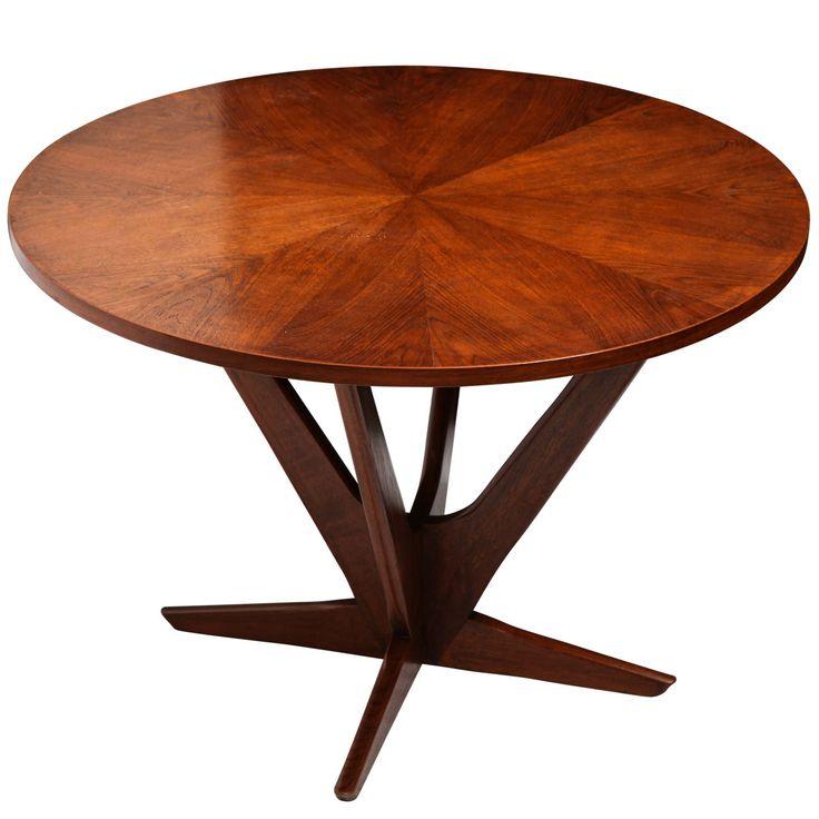 A 1960u0027s Modernist Teak Table Signed Georg Jensen For Kubus
