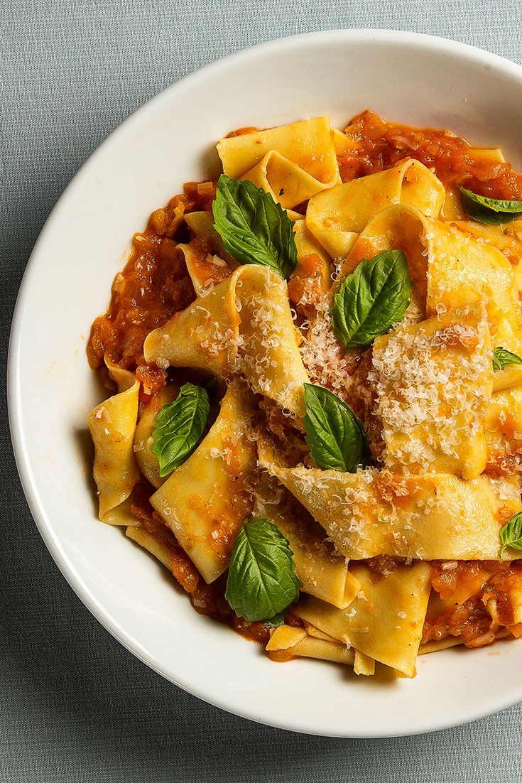 Sara Jenkins shares the comforting fresh pasta and tomato sauce recipe she makes with her mom.