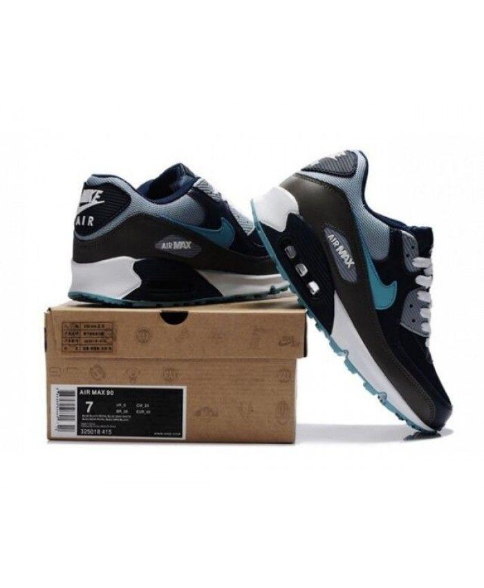 promo code 8e520 c79fc Mens Nike Air Max 90 Black Blue 6809331-101