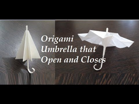 Origami Umbrella | THAT OPEN AND CLOSES - YouTube