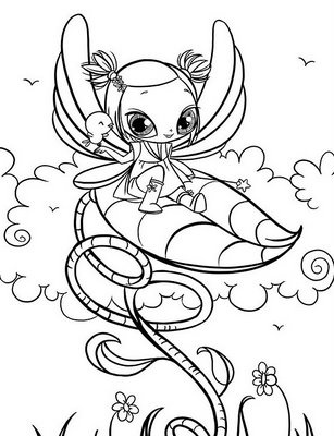 Here Is A Very Detailed Fairy Coloring Page That Older Girls Will Enjoy And Below Thoroughly Modern For You To Print Color I