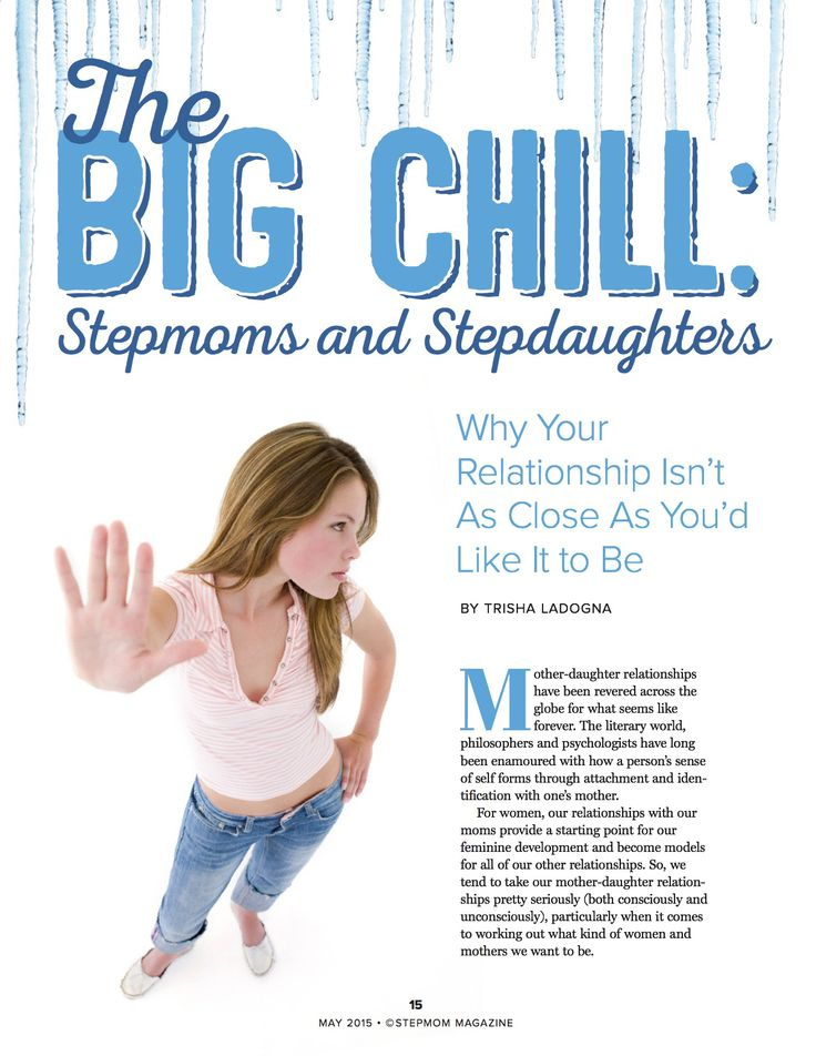 Feel like there's a wall between you and your stepdaughter? It's one of the most complicated (and frustrating!) relationships you may have. Trisha Ladogna explains it all in this month's issue of StepMom Magazine. Available here: http://www.stepmommag.com