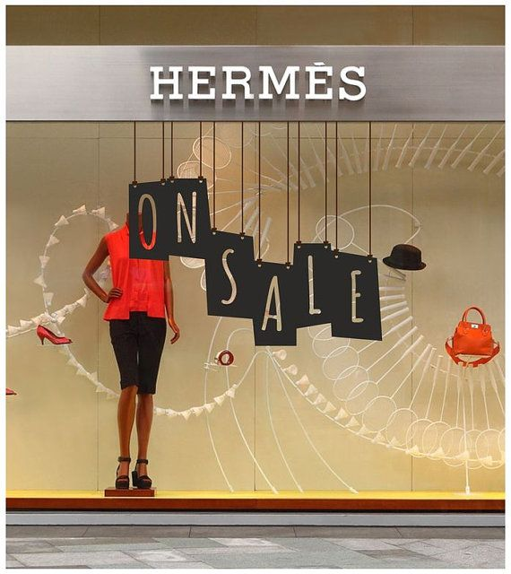 On Sale Shop Window decal easy to paste or remove - shop window display - ask us…