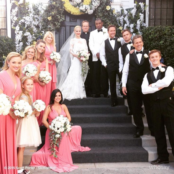 Loving our gorgeous custom Dusty Rose twobirds Bridesmaid dresses at the wedding of Jaime King on the season finale of Hart of Dixie!
