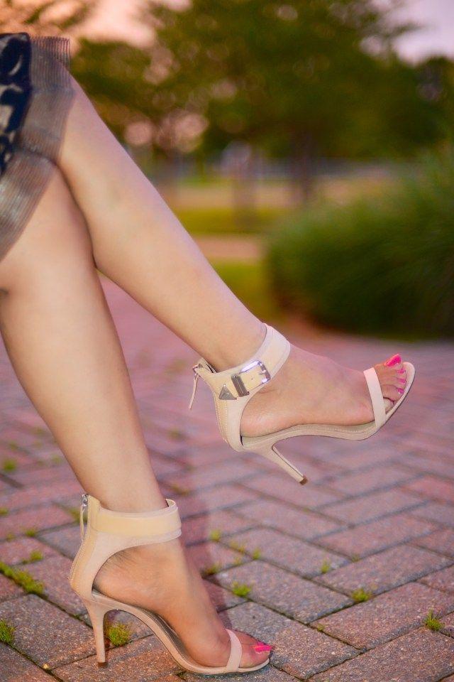 Romantic Evening Affair with Sheer Lace Dress - ZARA Sandals