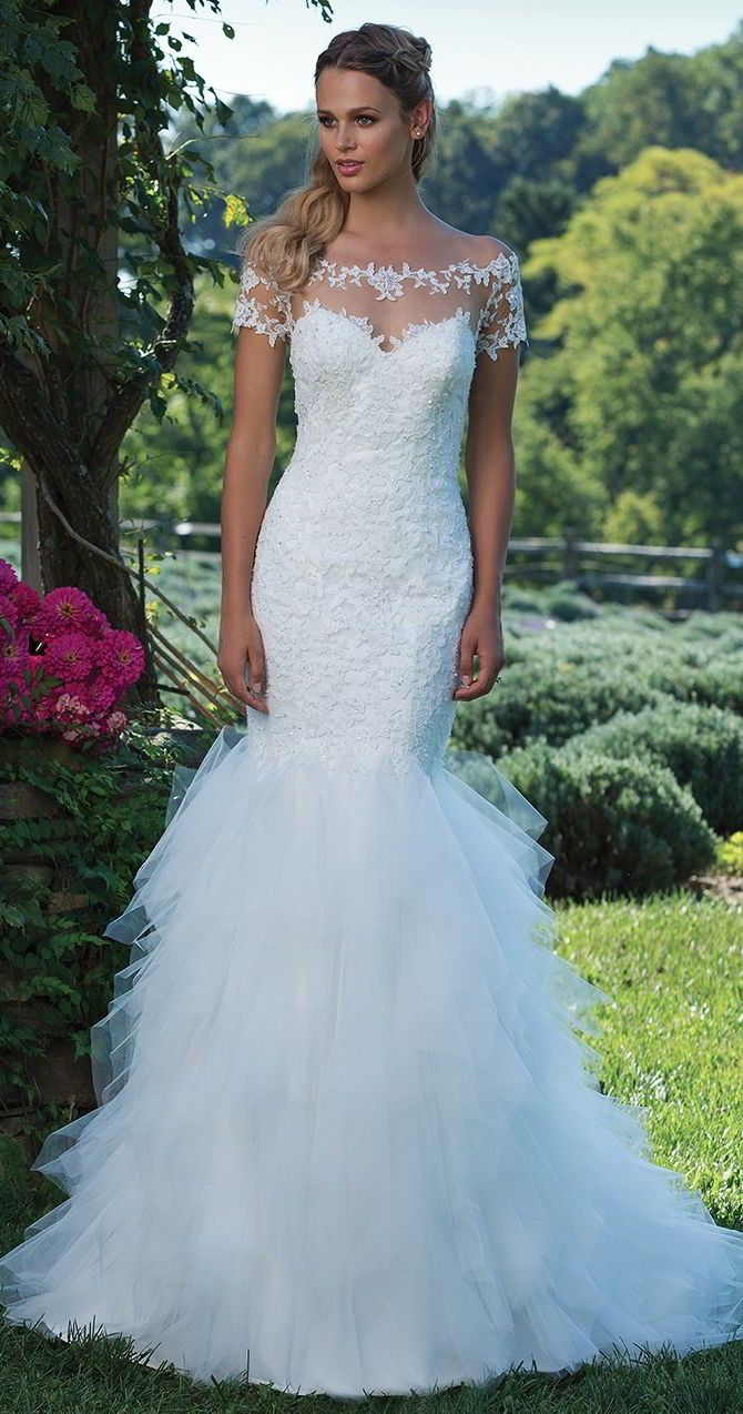 429 best Fit & Flare Wedding Dresses images on Pinterest