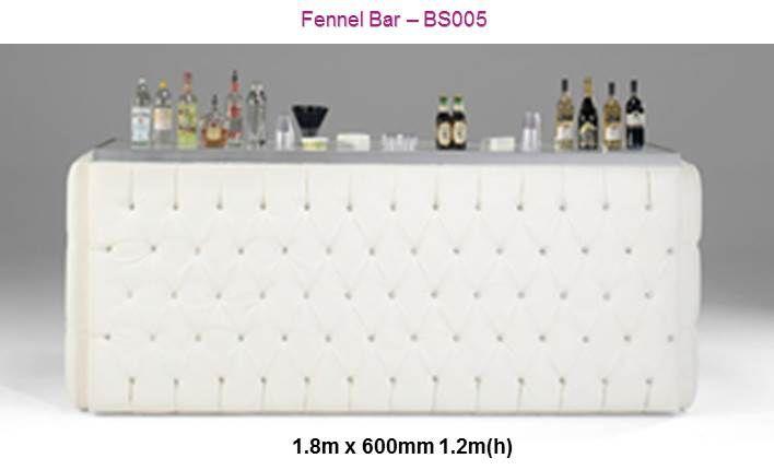 Bar counter, deep buttoned, crystal buttons