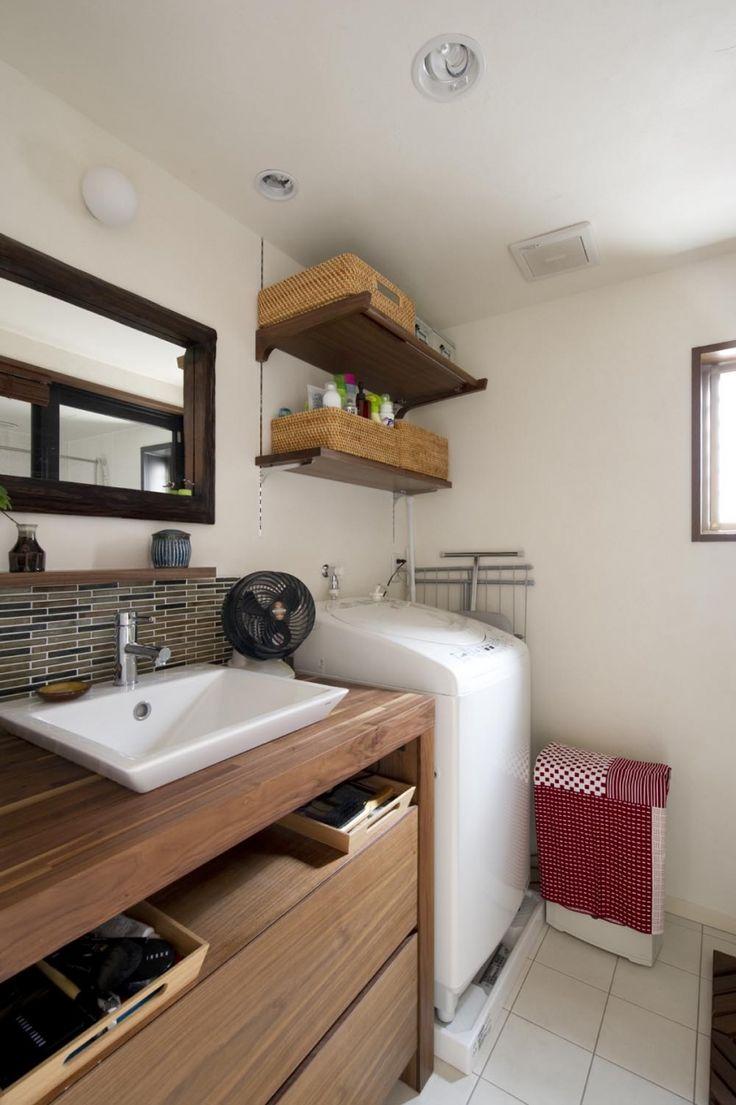バス/トイレ事例:洗面所(Y邸・自分たちの「好き」をカタチにした住まい)